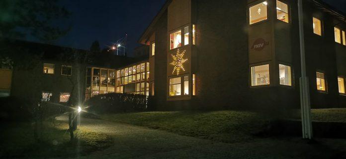 Lensvik kommunehus, hvor ungdomsskolen har tilhold i påvente av ny skole.
